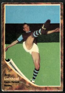 A&BC Gum, FOOTBALLERS, Make A Photo, 1963, Andy Lochhead, Burnley, #67