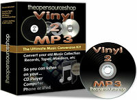 Convert Vinyl Records/LPs & Tapes 2 CD & MP3 10m Lead Length Kit + FREE CD Gift