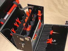 ECHT Leder für MEISTER + PROFI Werkzeugkoffer Werkzeugtasche Koffer Werkzeug NEU