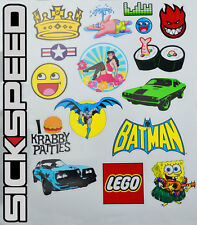 17PC STICKERBOMB KIT BATMAN STICKER SPONGEBOB DECAL RACING BRAND SPOOF FUNNY E