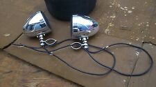 2 CRUISER CHROME SPEAKERS 2 STEREO SPEAKERS CHROME STEREO SPEAKER MOTORCYCLE