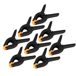 """8 X JAK Large 4"""" Spring Clamps Set Plastic Quick Grip Hold Stall Market Clips"""