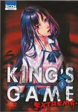 KING'S GAME EXTREME tome 3 Kanazawa Kuriyama MANGA seinen en français
