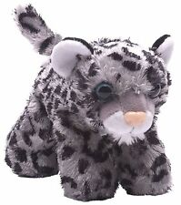 "Hug'Ems 7"" Mini Snow Leopard Stuffed Animal by Wild Republic 3+ Boys & Girls"