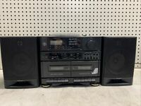 Vintage General Electric Stereo Radio CD/Cassette Recorder Boombox 3-7049A Works