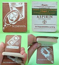 Antique Bulgarian German BAYER ASPIRIN Advertising Paper Notebook 1930's