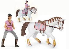 Papo Cavallo con cavallerizza cod. 51525 e cod 52006 insieme - braided mane