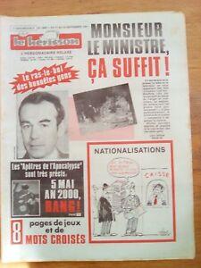 LE HERISSON n°1891 - 1981 - Humour - l'or de Staline - Apocalypse de l'an 2000