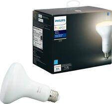 Philips - Hue White BR30 Bluetooth Smart LED Bulb - White - VG