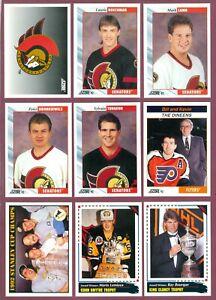 1992-93 SCORE USA NHL HOCKEY CARD 512 TO 550 SEE LIST