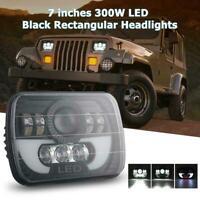 "300W LED Projector Headlight Hi-Lo Beam Halo DRL For Jeep Cherokee 7x6"" 5X7"" hsa"