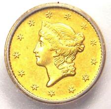 1854-S Liberty Gold Dollar Coin G$1 - Certified ICG MS62 (UNC BU) - $5,310 Value