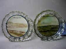Pair glass dishes