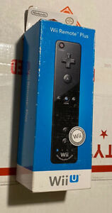 Official Nintendo Wii / Wii U Remote Motion Plus Controller - Black - NEW