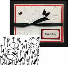 Poppy Field flower folder Darice embossing folders 1219-113 Cuttlebug Compatible