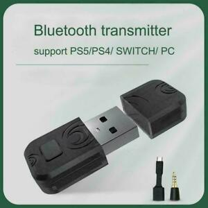 PS5/PS4 Bluetooth Wireless USB Adapter Dongle Receiver O1G2 For Headphone Y8T6
