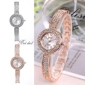 Ladies Women Watches Gold Silver Quartz Analogue Bracelet Wrist Watch Uk Fashion