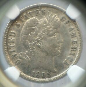 1895 P United States 10C Ten Cents Barber Dime 90% Silver - NGC XF 45 - H2216