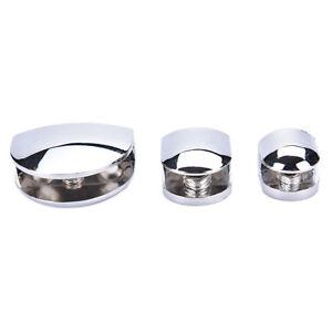 5-8MM Stainless Steel Semicircle Clamp Holder Clip For Glass Shelf Handrail D^lk