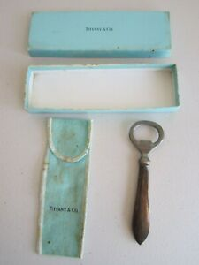VINTAGE USED BOXED TIFFANY & CO STERLING SILVER BOTTLE OPENER NO RESERVE ! NR