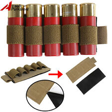 Tactical 5 Rounds Shotgun Shell 12GA 20GA Gauge Ammo Holder Cartridge Pouch Tan