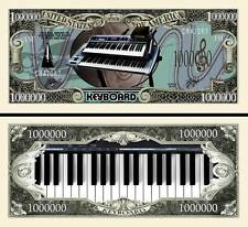 Keyboard Million Dollar Bill Collectible Fake Play Funny Money Novelty Note