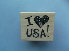PSX RUBBER STAMPS I LOVE USA NEW STAMP