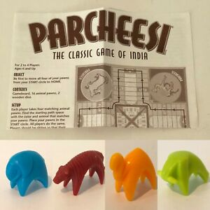 Parcheesi Classic Board Game Replacement Parts Pieces Choice Animal Token Color
