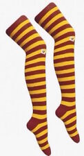 Ladies Teens Maroon and Yellow Stripe Over The Knee Socks Harry Potter Hermione