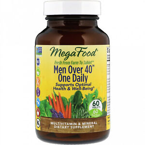 MegaFood, Men Over 40 One Daily, Iron Free Formula, 60 Tablets