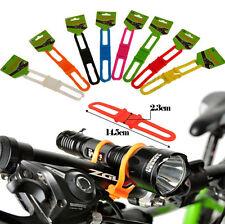 Practical 5Pcs Cycling Bicycle Flashlight Holder Silicone Elastic Strap Bandage