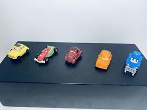 Lot Of 5 Disney Pixar Cars PVC Mini Figure Cake Toppers Micros Plastic Toys