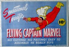Flying Captain Marvel paper toy mint in original envelope 1944
