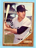 1962 Topps Baseball Card #178  Camilo Carreon --  Chicago White Sox (EX)