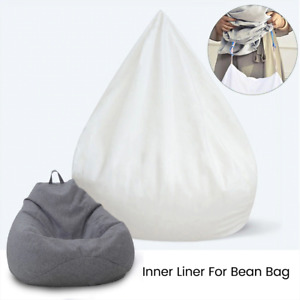 Lazy Bean Bag Chair Sofa Cover Inner Lining Easy To Clean Living Room Furniture