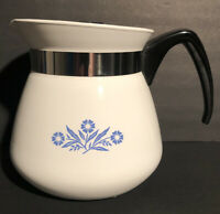 Corning Ware Blue Cornflower 2 Qt 8 Cup 64 Oz White Replacement Carafe w/ Lid