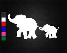 CUTE MOTHER & BABY ELEPHANT VINYL DECAL STICKER CAR/VAN/WALL/DOOR/LAPTOP/WINDOW
