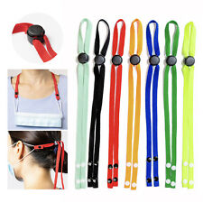 4Pcs Adjustable Cotton Mask Lanyard Necklace Extender Strap Holder Ear Saver