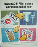 Lot of 3 Vintage AC Oil Filter Ads Trapped!!