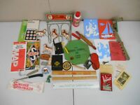 Vintage Junk Drawer Lot of Collectible Items- Maps, Rulers, Boot Saver