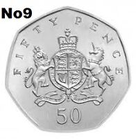 UK 50p circulated commemorative coins British coin hunt various to choose from