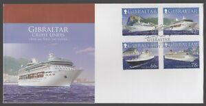 Gibraltar 2006 FDC Cruise Ships 2nd Series - Including Costa Concordia