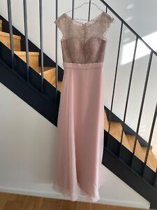 LUXUAR Abendkleid mit Ziersteinbesatz - rosa - Gr. 36 - wie neu - NP 299,99 €