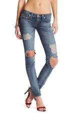NWT True Religion Distressed Destroyed Ripped Flap Skinny Jeans 28 $229