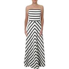Lauren Ralph Lauren Womens Navy Strapless Striped Evening Dress Gown 8 BHFO 8979