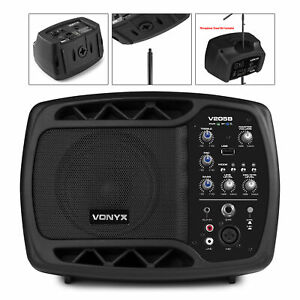 Active Powered PA Speaker System Personal Live Stage Event Monitor Bluetooth USB