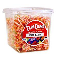 Dum Dum Pops Favorite Peach Mango Flavor TWO Big 1 Lb Tubs! Lollipops Dum Dums