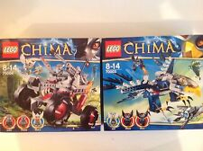 2 New LEGO Legends Of CHIMA Sets 70003 & 70004 With 6 Mini Figures.