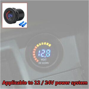 Universal Car Motorcycle Dual LED Digital Voltmeter Ammeter Amp Volt Meter Guage