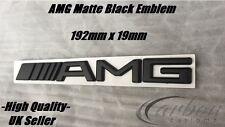 Mercedes AMG Insignia Trasero Negro Mate Tronco Emblema C63 E63 A45 AMG-vendedor de Reino Unido -